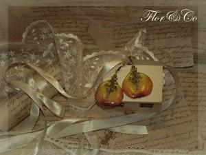 Серьги, лепестки прекрасной розы, винтажная американская фурнитура